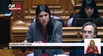 """M. Mortágua: """"Nos últimos 4 anos, PSD e CDS cortaram rendimentos e venderam o Estado"""""""
