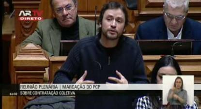 """José Soeiro: """"Mudar a lei é a única forma de garantir os direitos da contratação colectiva"""""""