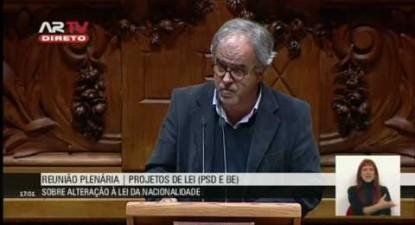 """José Manuel Pureza: """"Batemos para que quem nasce em Portugal possa ser português"""""""