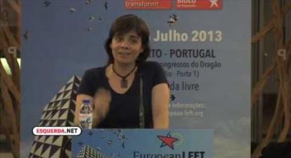 ESQUERDA.NET | Universidade de Verão do Partido da Esquerda Europeia | Catarina Martins