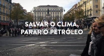 """Manifestação """"Salvar o Clima, Parar o Petróleo""""   ESQUERDA.NET"""