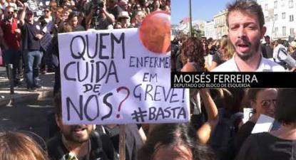 Manifestação de enfermeiros em Lisboa | ESQUERDA.NET