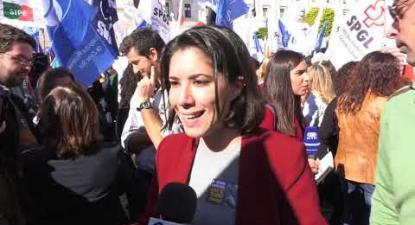 Manifestação de professores no Parlamento| ESQUERDA.NET
