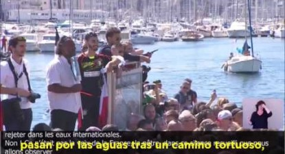 """Aqui estamos!"", discurso emocionante de Mélenchon em Marselha"