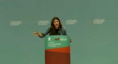 """Marisa Matias  na sessão internacional """"O Tempo dos Movimentos na Europa"""""""