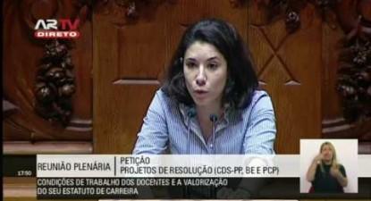 """Joana Mortágua: """"Uma sociedade que aposta na educação não pode maltratar os seus professores"""""""