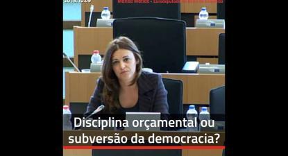 Disciplina orçamental ou subversão da democracia? - Marisa Matias 2018.10.09