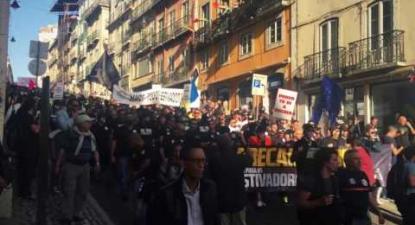 Manifestação contra a precariedade