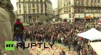 Belgium: 'Hooligans' crash vigil for victims of Brussels attacks