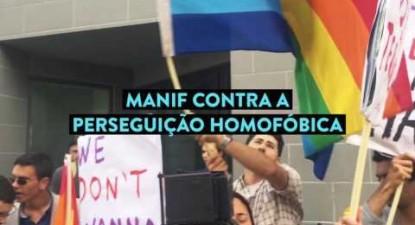 Manif contra a perseguição homofóbica na Chechénia