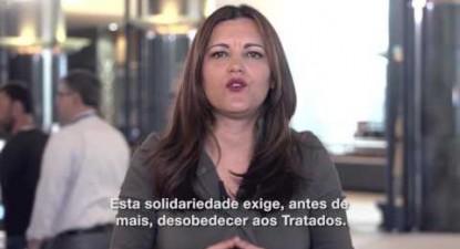Marisa Matias em apoio a Mélenchon | ESQUERDA.NET