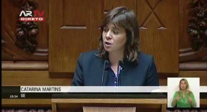 """Catarina Martins:: """"Agir com determinação e lucidez corajosa para que não se repita a tragédia"""""""