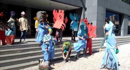 CRUSTÁCEOS E MOLUSCOS INVADEM A SEDE DA GALP