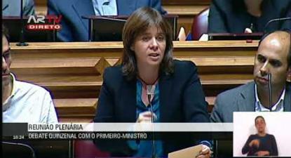 """Catarina Martins: """"Reconhecer que o Estado falhou é o patamar mínimo para poder responder ao país"""""""