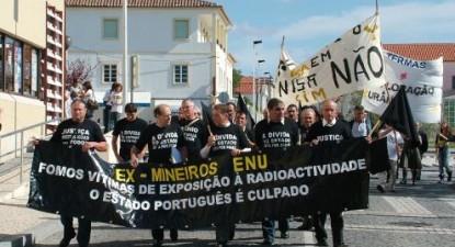 Mineiros da ENU. Foto de Hugo Teixeira.