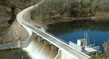 Mini-barragem, foto do Correio da Beira Serra