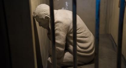 Museu do Aljube, reprodução de uma cela.