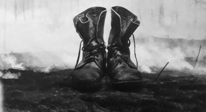 Imagem que figura na capa da última edição do livro Nó Cego, de Carlos Vale Ferraz.