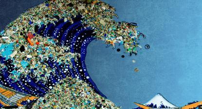 Oito milhões de toneladas de lixo despejados no mar diariamente. Fonte: quercus.pt