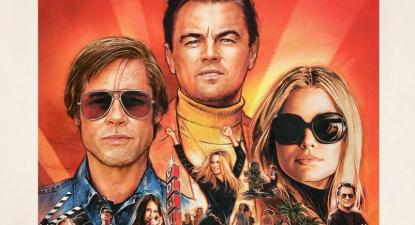 Pormenor do cartaz de Once upon a time in Hollywood de Quentin Tarantino.