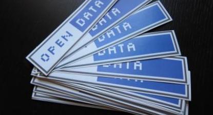 Etiquetas do movimento Open Data. Foto de Jonathan Gray