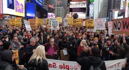 Manifestações contra a guerra contra o Irão e o Iraque realizaram-se este sábado em 70 cidades dos EUA - Foto Answer Coalition