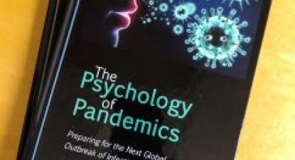 Capa do livro Psicologia da Pandemia. Fonte Universidade da Colúmbia Britânica.