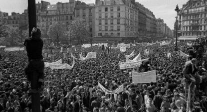 Manifestação em 13 de maio de 1968 em Paris