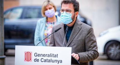 Pere Aragonès, dirigente da ERC, vice-presidente da Generalitat da Catalunha. Atualmente é o presidente da Generalitat em exercício, desde setembro de 2020, quando Quim Torra foi afastado devido à decisão do tribunal – foto do twitter da ERC