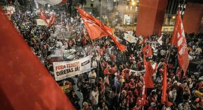 Manifestação em São Paulo no dia da greve geral, 30 de junho de 2017 – Foto Mídia Ninja