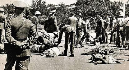 Massacre de Pindjiguiti, Bissau. Reprodução.