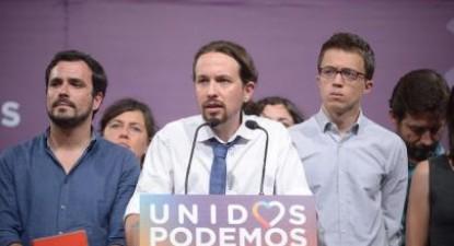 Dirigentes do Unidos Podemos na noite eleitoral. Foto (Podemos) Flickr