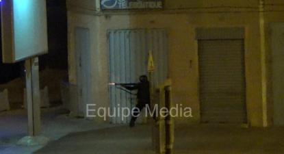 Polícia de Marrocos a disparar contra manifestantes saharauis, 19 de julho de 2019