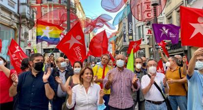 O Bloco de Esquerda realizou um comício na cidade do Porto - Foto de Andreia Quartau