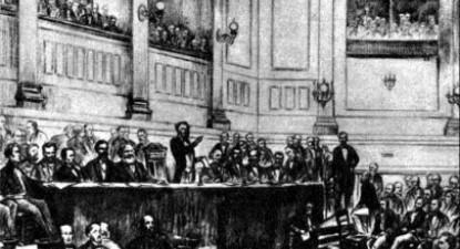 No dia 28 de setembro de 1864, foi fundada, em Londres, a Associação Internacional de Trabalhadores (conhecida como Primeira Internacional) - Foto wikipedia