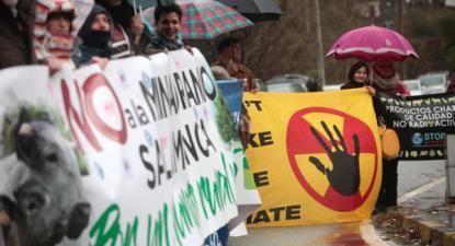 Concentração Ibérica Antinuclear contra as minas de urânio em Salamanca, 19 de janeiro de 2019 – Foto de Miguel Pereira da Silva/Lusa