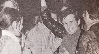 Ramiro Morgado à saída da prisão de Caxias, 27 de abril de 1974.