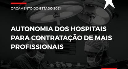 """""""Rejeitado"""" - """"autonomia dos hospitais para contratação de mais profissionais"""""""