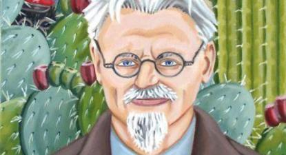 Trotsky. Pormenor de uma pintura de Frida Kahlo.