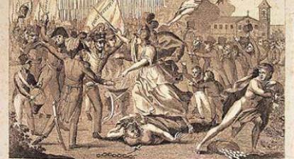 Ilustração sobre a Revolução Liberal.