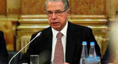 Ricardo Salgado na Comissão parlamentar de Inquérito ao BES, 9 de dezembro de 2014 – Foto de Miguel A. Lopes/Lusa