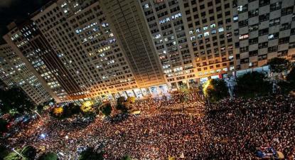 Manifestação no Rio de Janeiro. Foto Mídia Ninja