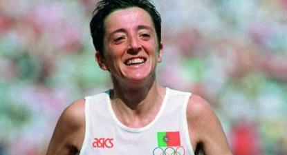 Rosa Mota, campeã olímpica. Foto: Wikimedia Commons.