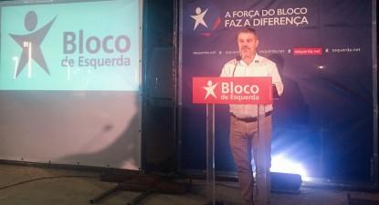 Rui Barradas, candidato do Bloco de Esquerda à Câmara de Silves, Algarve. Foto Esquerda.net.