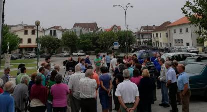 Concentração em São João de Areias pela reabertura de extensão de saúde