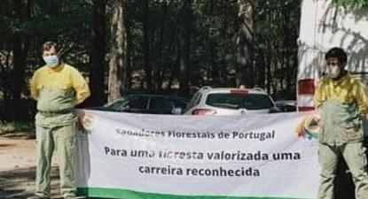 Faixa dos Sapadores florestais – foto do facebook do SNPC