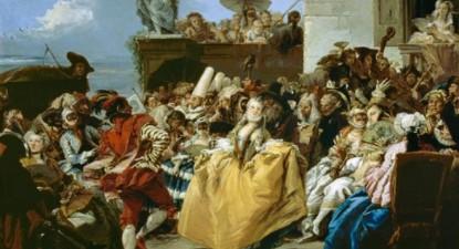Giovanni Domenico Tiepolo (1727-1804), Scène Carnival, le menuet, 1750, Musée du Louvre, Paris – Foto wikipedia