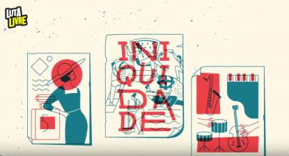 Imagem de um dos vídeos do projeto Luta Livre.