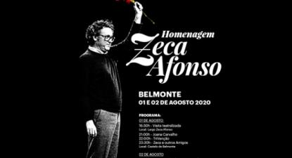 Pormenor do cartaz do evento de homenagem a José Afonso pela Câmara Municipal de Belmonte.