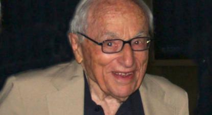 Walter Bernstein em 2016. Foto de Luigi Novini/ Wikimedia Commons.